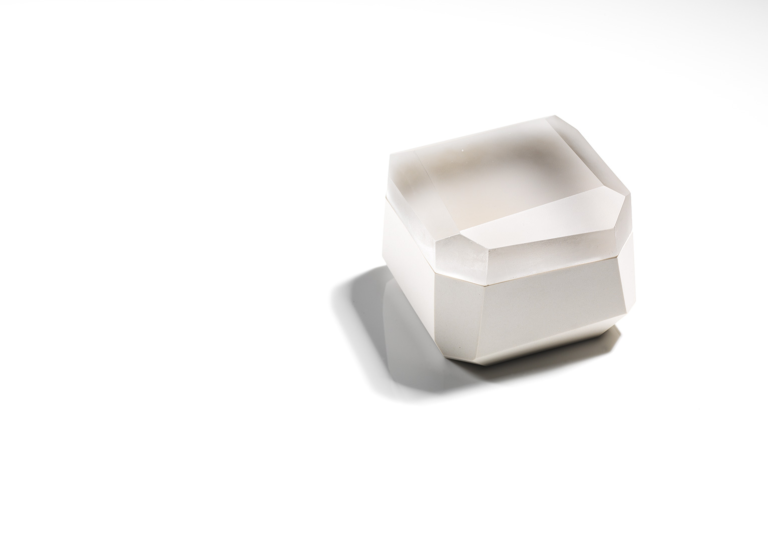 Large Square Faceted Box