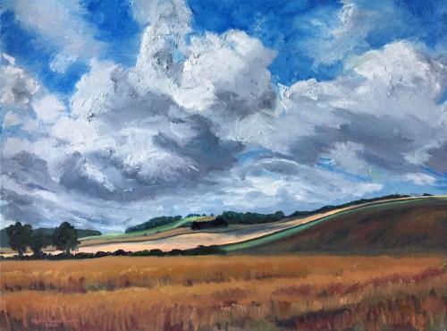 'Late Summer, Fife' - 80x60cm - Oil paint on canvas