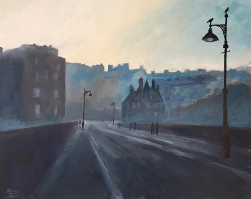 'The Dean Bridge, Edinburgh' - 51x41cm - Oil paint on canvas