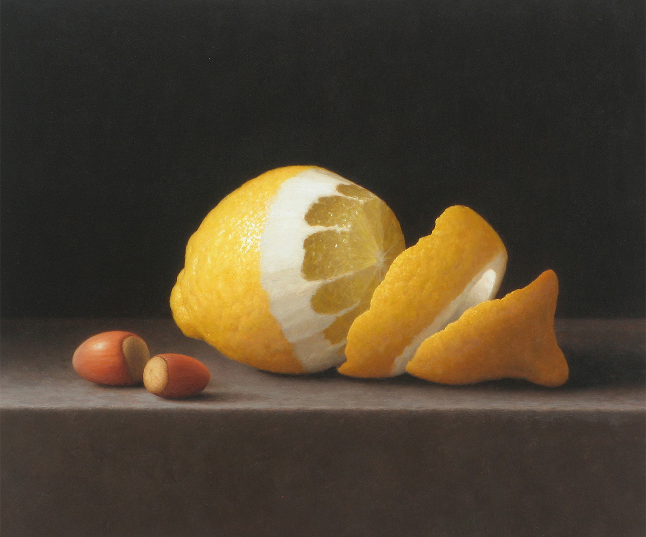 Peeled Lemon With Hazelnuts
