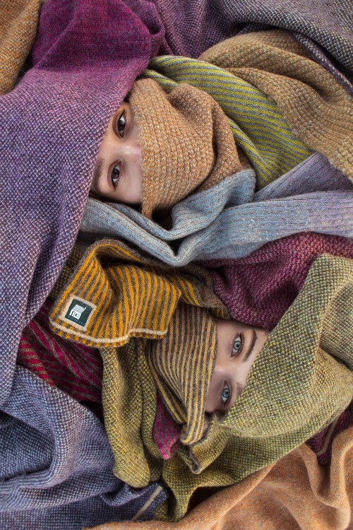 Hand made, hand dyed, and hand finished knitwear.
