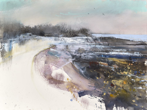 A dusting of Snow along the low Tide