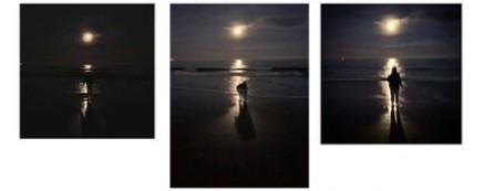 Full Moon Sea Print - Process