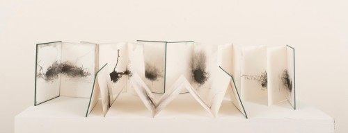 Geraldine van Heemstra,Three Walks, 2018, graphite and pencil on rough grain paper (concertina sketchbooks), variable dimensions