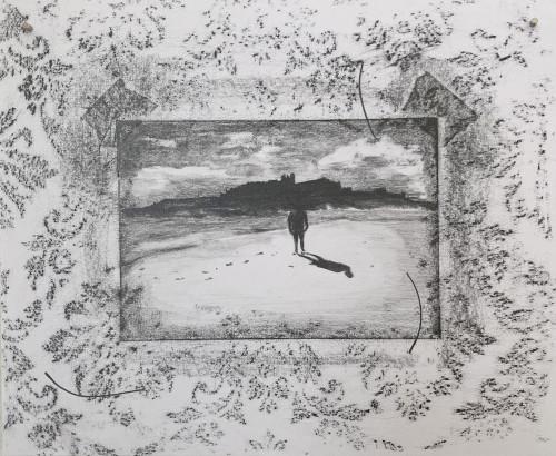 Three eyelashes, graphite on paper, 25 x 21 cm, 2021