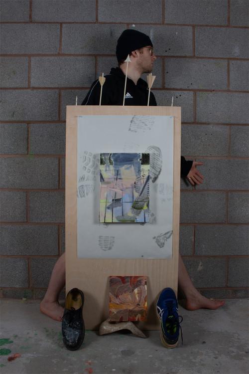 Shoe Shrine Pilgramage, 151 x 61.1 cm