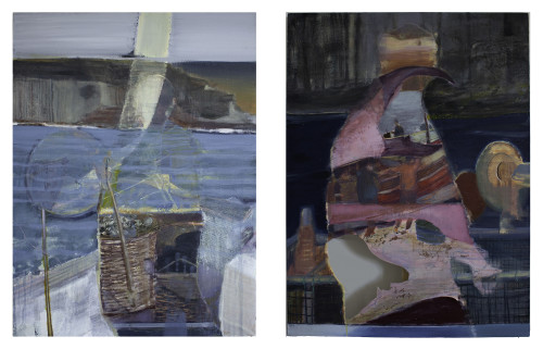 Lost at Sea (Diptych), 100 x 140 cm