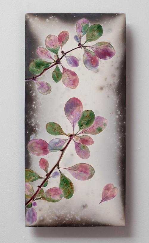 Berberis heart - Raku ceramic wall piece 2020