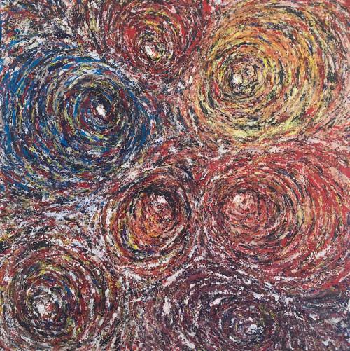 Kaleidoscope of Whirlwinds, acrylic on canvas 91*91cm