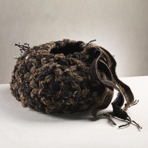 Peat Ribbons Bowl  23 x 40 cm    mixed fibres
